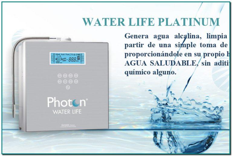 WATER LIFE PLATINUM  Genera agua alcalina, limpia y benéfica a partir de una simple toma de agua potable en Semiramis Andorra