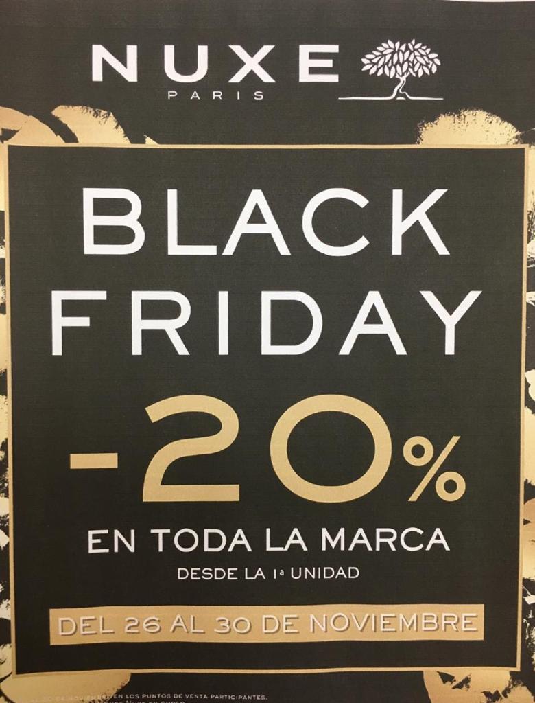 Nuxe Black Friday 20 % en toda la gama en Farmacia Central Andorra uno de los productos clásicos es el Aceite multiusos Huile Prodigieuse de Nuxe de Nuxe